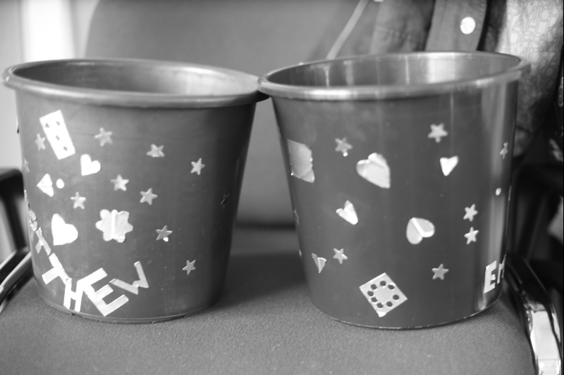 Personalised waste paper bins